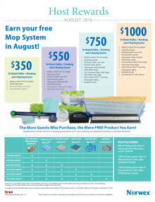 August 2016 Norwex Host Specials Canada