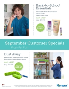 September 2016 Norwex Customer Specials Canada