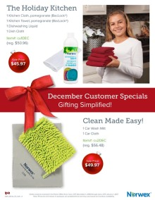 December 2016 Norwex Customer Special Canada