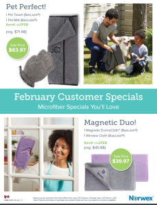 February 2017 Norwex Customer Specials