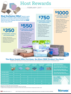 February 2017 Norwex Host Specials