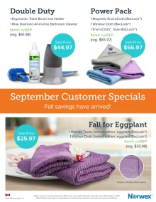 September 2017 Norwex Customer Specials Canada