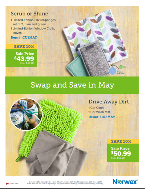 May 2019 Norwex Customer Specials Canada